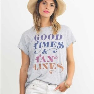 Junk Food 'Good Times & Tan Lines' Graphic Tee